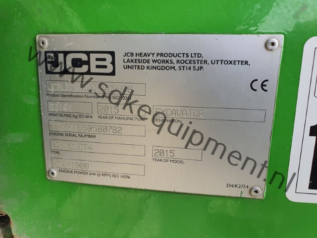 JCB JS300LC-T4 track excavator 2015 (1) (Klein)